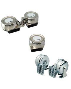 Signalhörner rund, kompakt - einfach & doppelt